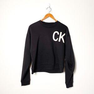 Calvin Klein Graphic Black White Crewneck Sweater